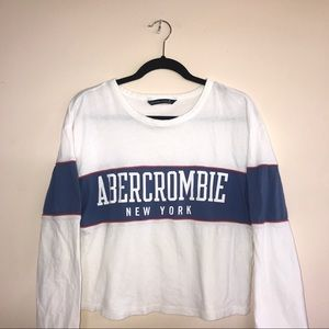 abercrombie & fitch logo long sleeve top